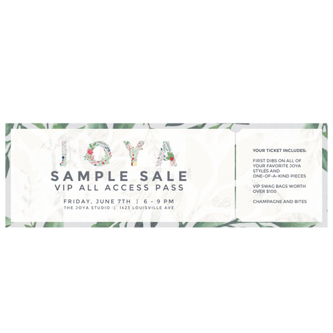 June Sample Sale VIP All Access Pass