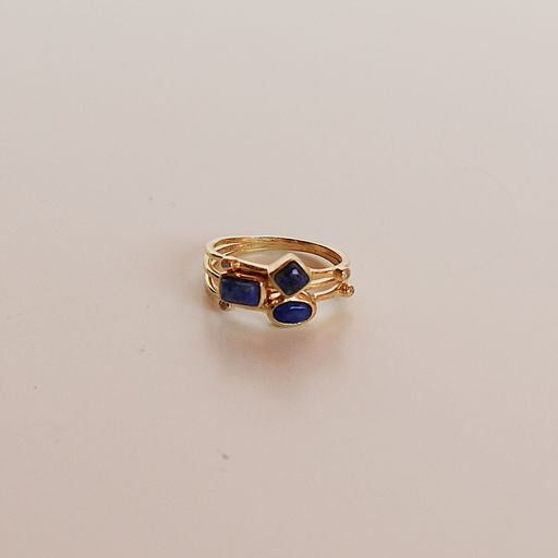 Triple Threat Ring Stack - Lapis