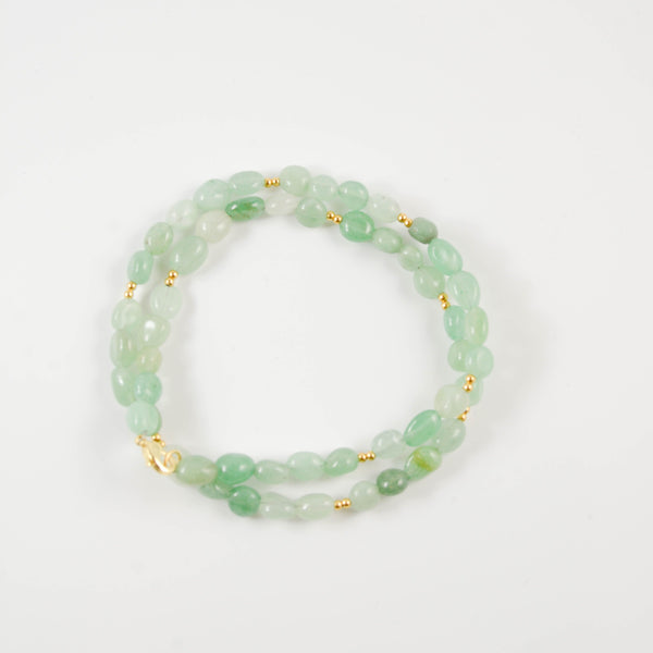 Seafoam Beaded Wrap Bracelet