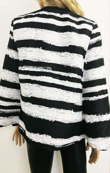 Structured Cape Blazer | MONOCHROME - Wardrobe Wilderness
