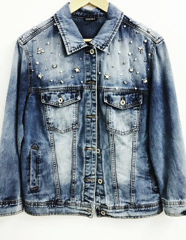 Customised Denim Jacket | BLUE - Wardrobe Wilderness