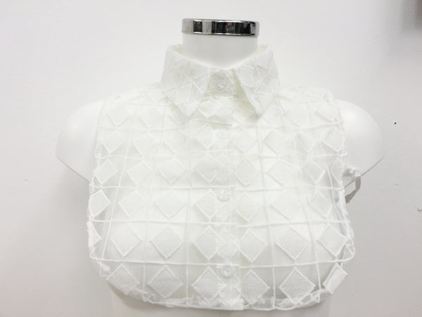 Mesh Pattern Shirt Collar | WHITE - Wardrobe Wilderness