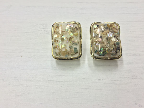 Vintage Vixen Rectangle Studs | AVAILABLE COLOURS - Wardrobe Wilderness