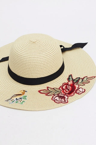 Lolita Embroidered Sun Hat | BEIGE
