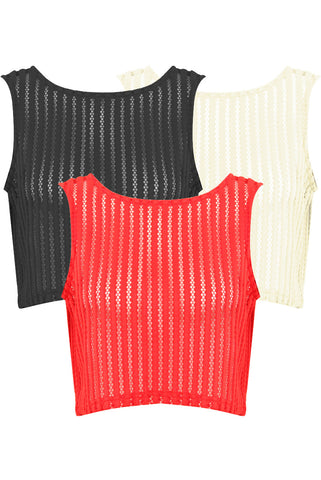 Crop Mesh Vest | AVAILABLE COLOURS - Wardrobe Wilderness