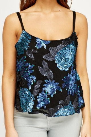 Sequins Cami | BLUE