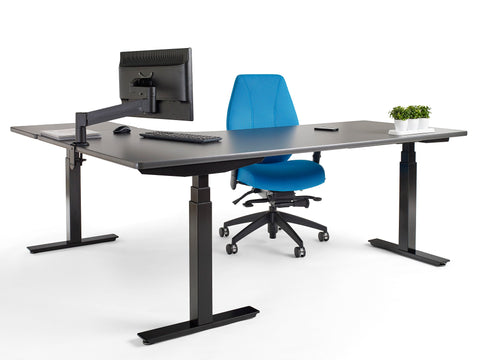 upCentric Sit Stand Desk - L-Shaped [ergonomics] - fitzBODY.com