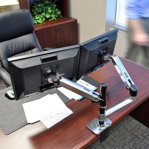 LX Dual Stacking Arm by Ergotron [ergonomics] - fitzBODY.com