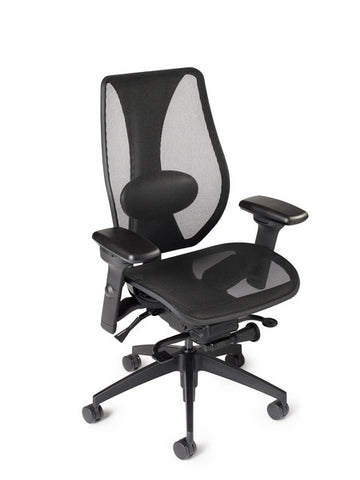 tCentric Hybrid Ergonomic Office Chair - All Mesh Black Frame [ergonomics] - fitzBODY.com