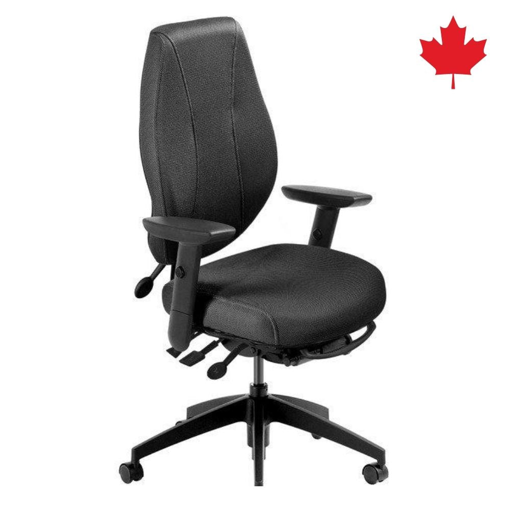 "airCentric2 Ergonomic Office Chair with 3"" Height & Width Adjustable Arms 