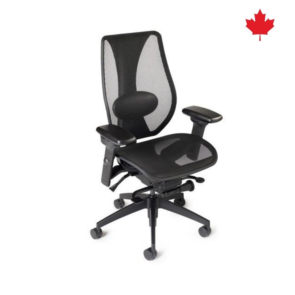 tCentric Hybrid Synchro Glide - Black Frame & All Mesh Seat/Back