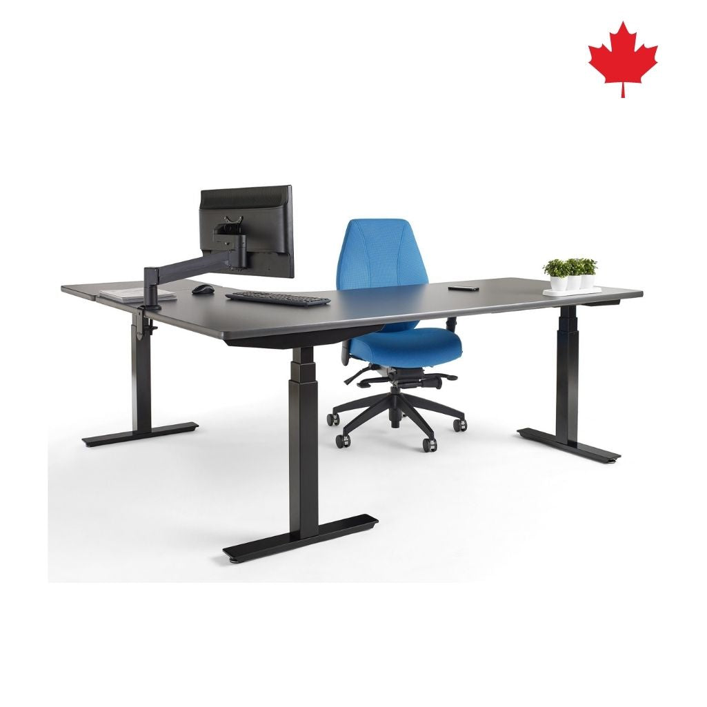 Custom-made Electric Sit Stand Desk - L-Shape | upCentric UP3L
