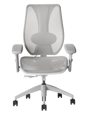 tCentric Hybrid Ergonomic Office Chair - All Mesh Grey Frame [ergonomics] - fitzBODY.com