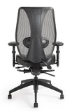 tCentric Hybrid Ergonomic Office Chair - Black Frame w/ Upholstered Seat [ergonomics] - fitzBODY.com