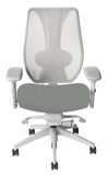 tCentric Hybrid Ergonomic Office Chair - Grey Frame w/ Upholstered Seat