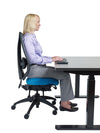 upCentric Sit Stand Desk - Rectangle [ergonomics] - fitzBODY.com