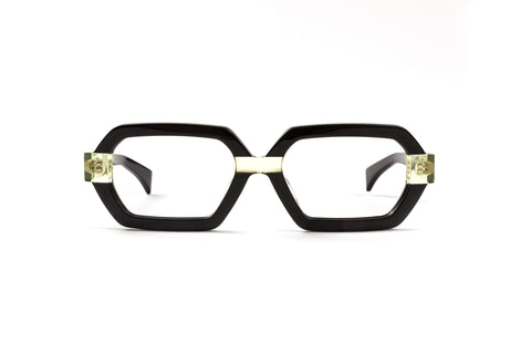 Wild Paradise Black/Neon Yellow Reading Glasses