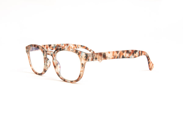 Lisbon Multi Tortoise Blue Light Blocking Reading Glasses