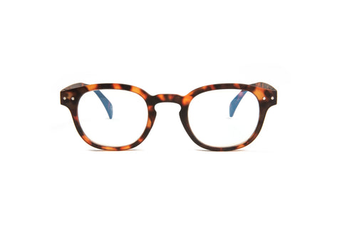 Tortoise pantos shaped reading glasses with blue light blocker