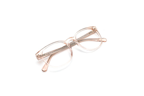 Santa Rosa Crystal Nude Pantos Reading Glasses