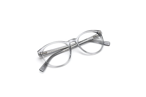 Malibu Crystal Grey Round Reading Glasses