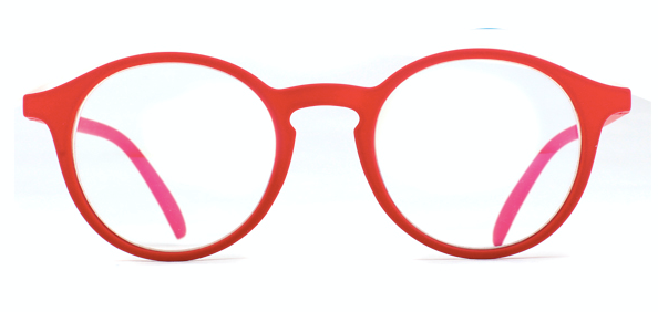 Montauk Red Rubberized Reading Glasses + Blue Light Blocker