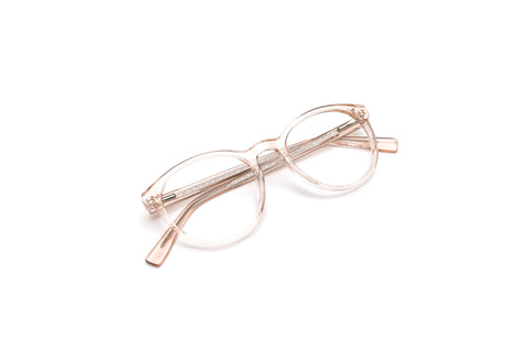 Malibu Crystal Nude Round Reading Glasses