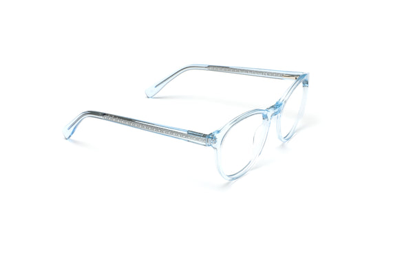 Malibu Crystal Blue Round Reading Glasses