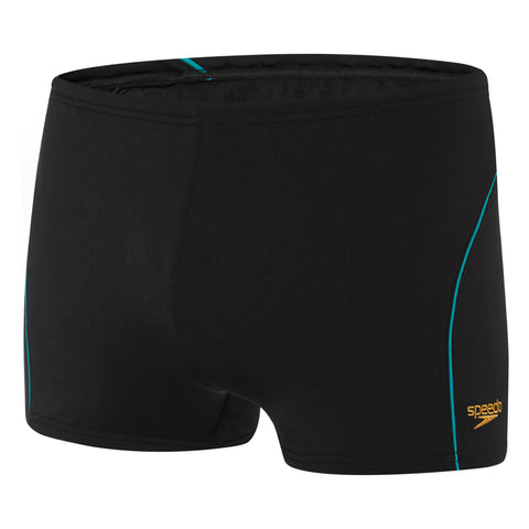 Mens Monogram Aquashort - Black/Gold/Eucalyptus