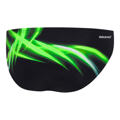 Mens Energize 8cm Brief - Green