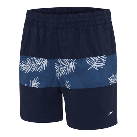 Mens Classic Panel Watershort - Navy/Raffia Mariner