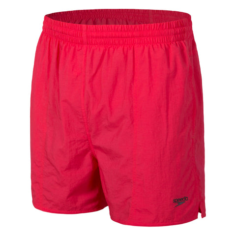 Mens Solid Leisure Short - Scarlet