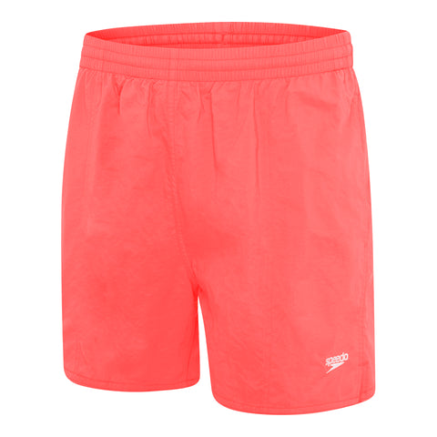 Mens Solid Leisure Short - Siren Red