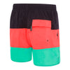 Mens Panel Solid Leisure Short - Carbon/Siren Red/Teal