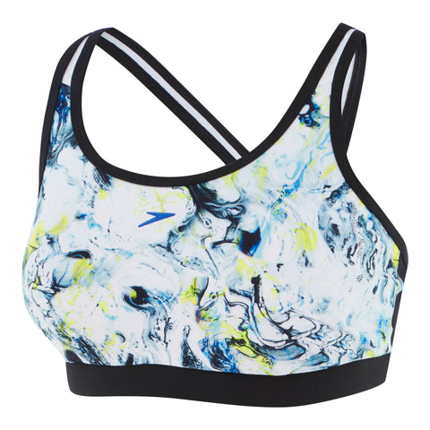 Womens Cross Trainer Fit Top - Marbled/Black/White