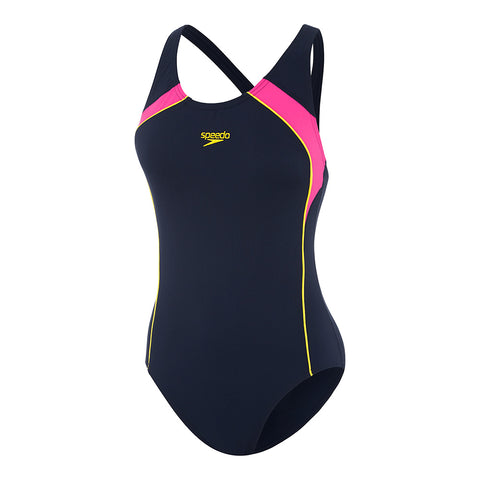 Womens Image Uplift One Piece - Speedo Navy/Azalia