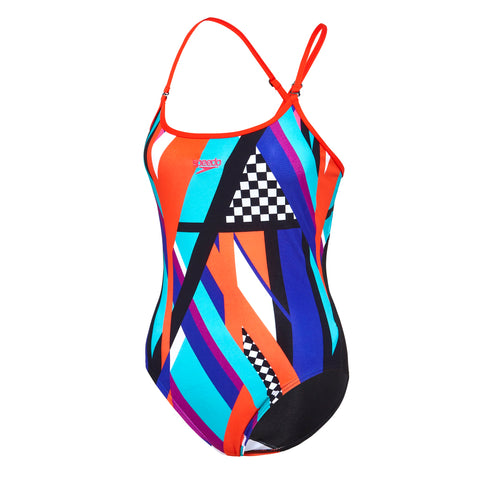 Womens Colour Block Convertible Back One Piece