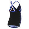 Womens Maternity Joy Tankini - Fire/Black/Blue