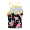Girls Floricheck High Neck Tankini