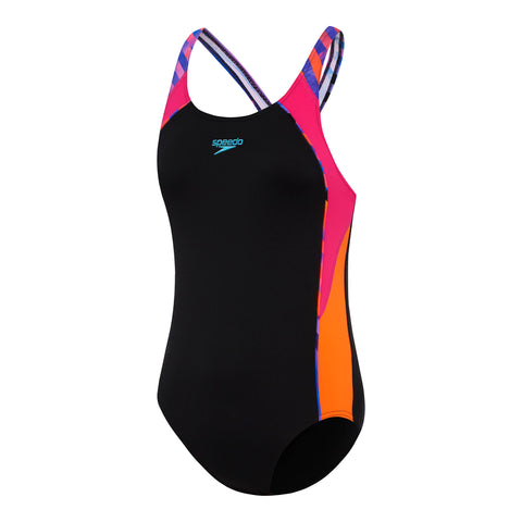 Girls Sport Image One Piece - Black/Splice World