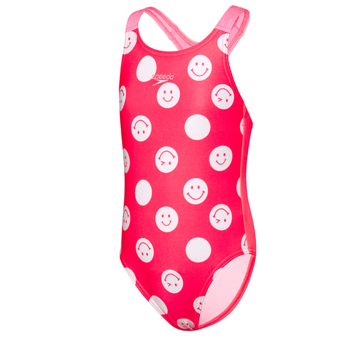 Toddler Girls Smiley Face Medalist One Piece