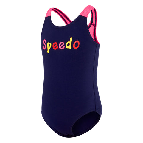 Toddler Girls Logo Medalist One Piece - Navy/Multi