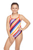 Girls Trickback One Piece - Replay Stripe