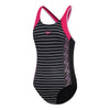 Girls Monogram Muscleback One Piece - Limitless/Ribbon