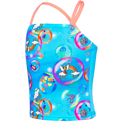 Toddler Girls Bubble World Crossback Tankini Set