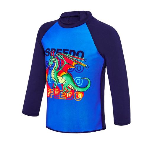 Toddler Boys Flaming Dragon Long Sleeve Rashie