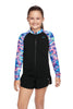 Girls Zip Up Long Sleeve Rashie - Orb of Light