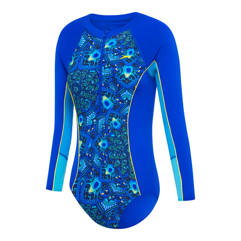 Girls Paddle Suit - Beautiful Blue/Peacock Paisley