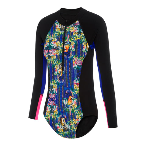 Girls Paddle Suit - Flamingo Jungle