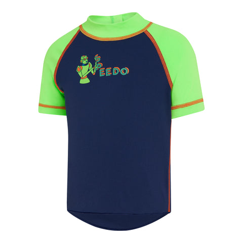 Toddler Boys Short Sleeve Robo Suntop